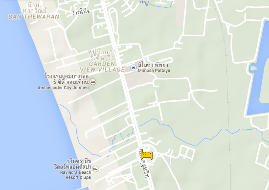 the location of your Apartment in Jomtien